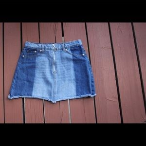 Dresses & Skirts - Two Tone Mini Skirt - Small